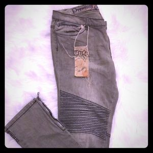 Denim - Motor cross jeans with zipper details